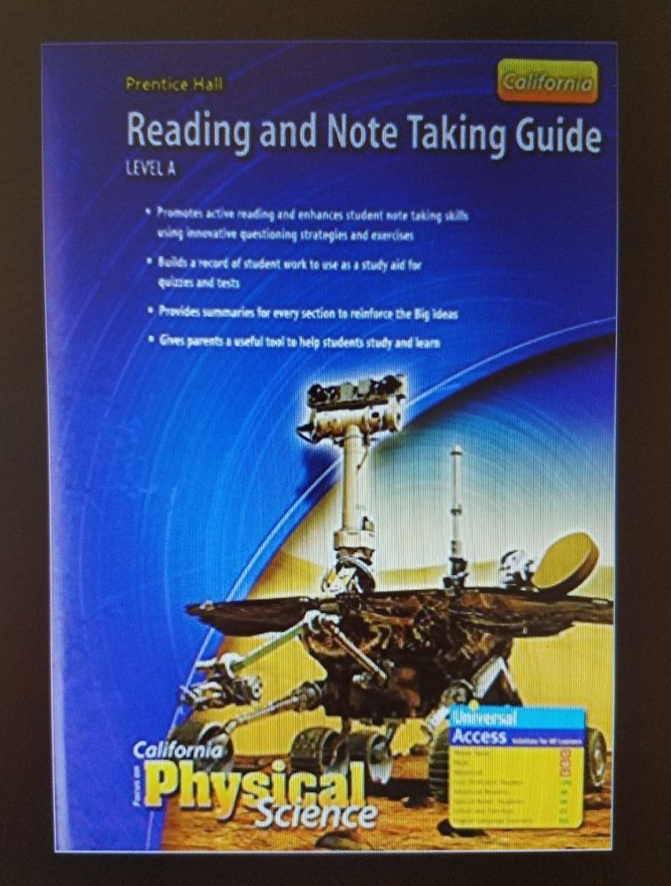 California Focus On Physical Science Note Taking Guide