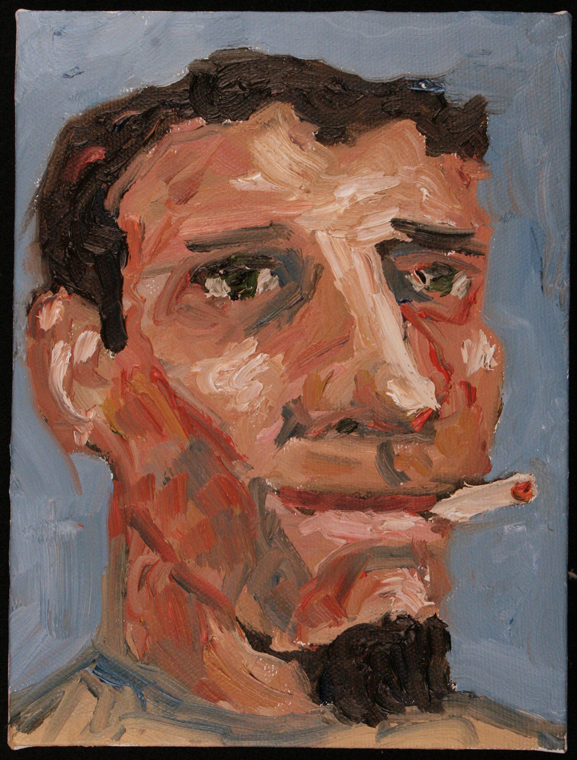 Joey Painting, Oil painting, Portrait