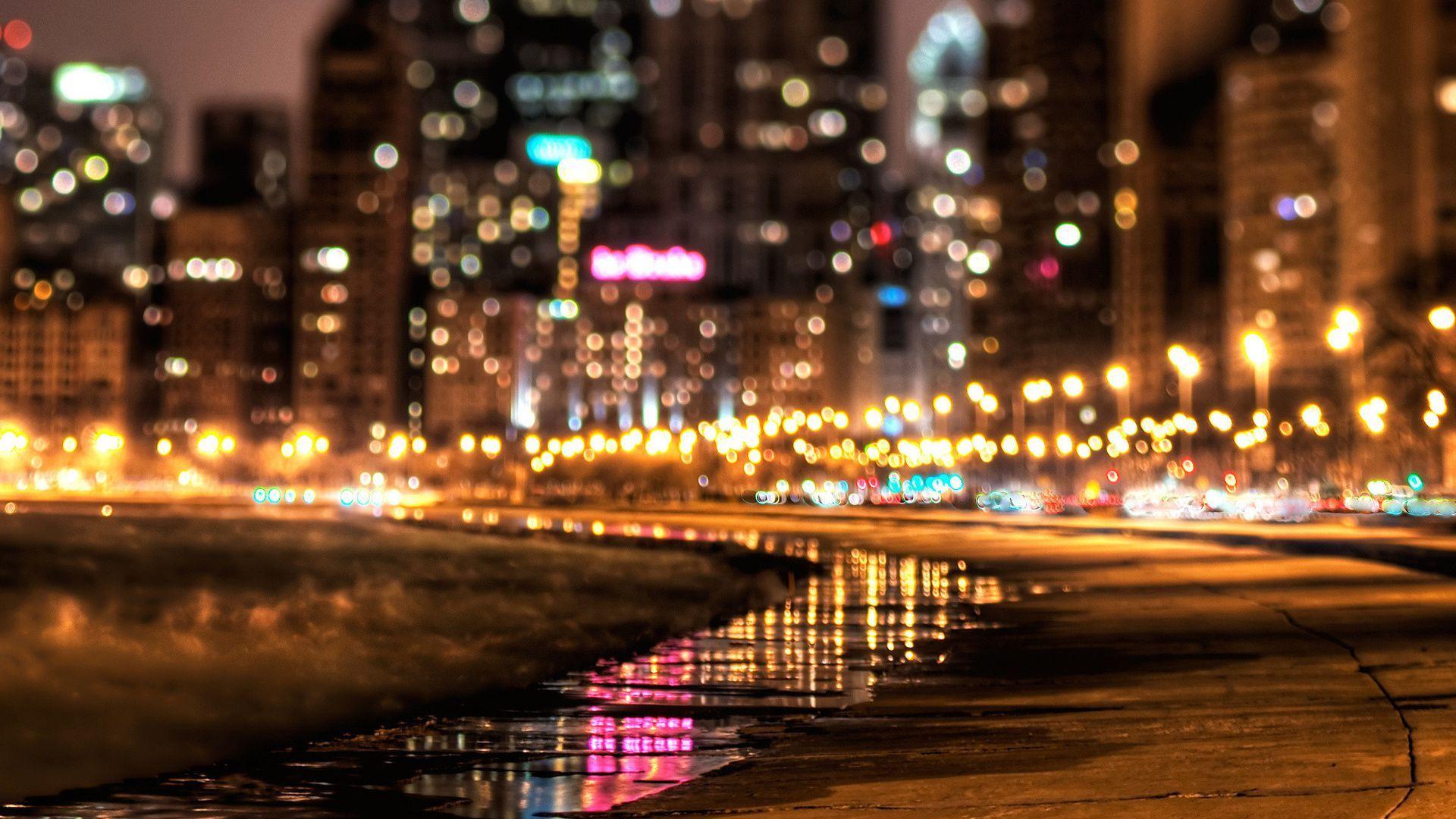 Night City Landscape 180391 Bokeh Photography Landscape Wallpaper City Lights