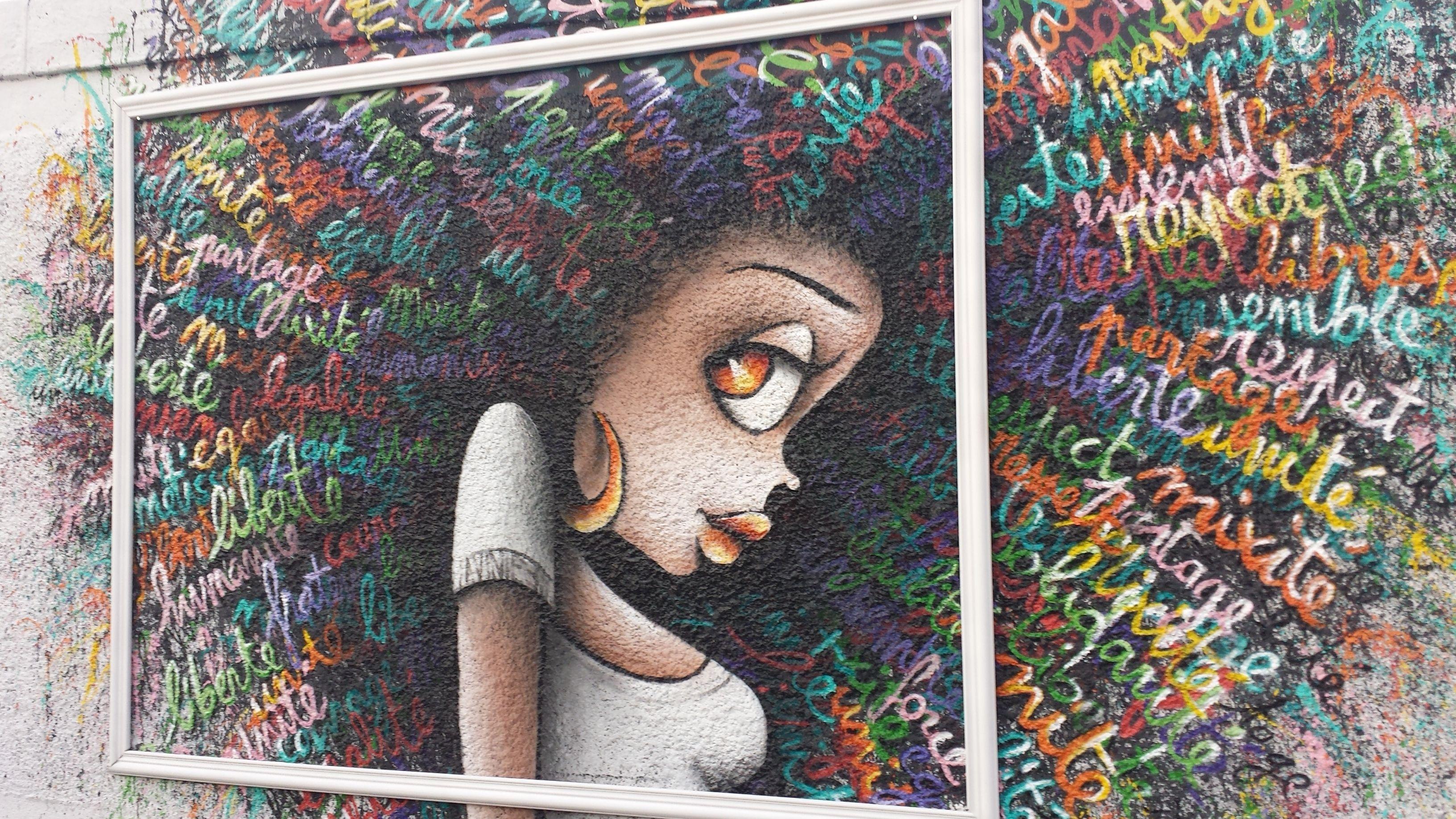 rosa parks fait le mur paris 19 me vinnie graffiti art. Black Bedroom Furniture Sets. Home Design Ideas