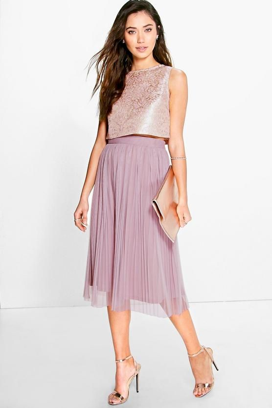 e023a14975bc Boutique Jacquard Top Midi Skirt Co-Ord Set | My Style | Skirt co ...