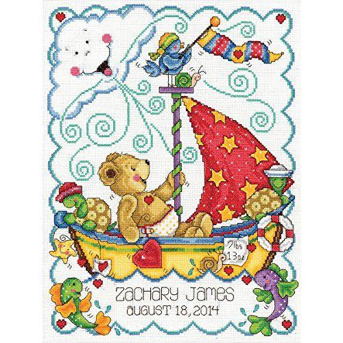Sail Away Baby Counted Cross Stitch Kit-11''X14'' 14 Count Leadoff http://www.amazon.co.uk/dp/B00OQI30UO/ref=cm_sw_r_pi_dp_-YZ0ub099QQWA
