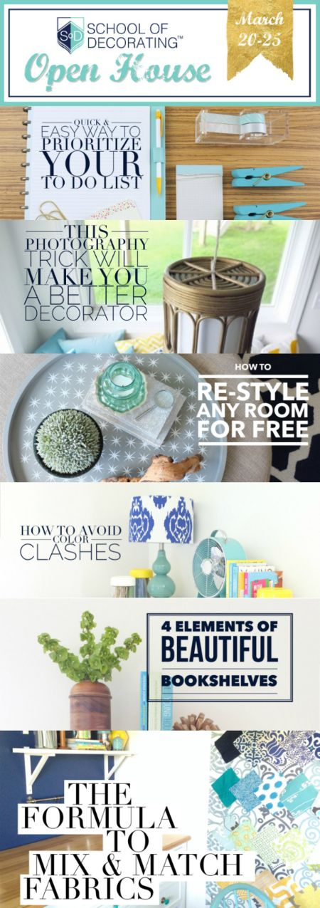 Get our top 6 decorating tips during the School of Decorating VIDEO open house | www.schoolofdecorating.com