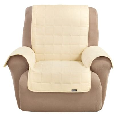 Recliner Chair Covers Target Grey Upholstered Dining Lazy Boy Sure Fit Quilted Suede Waterproof