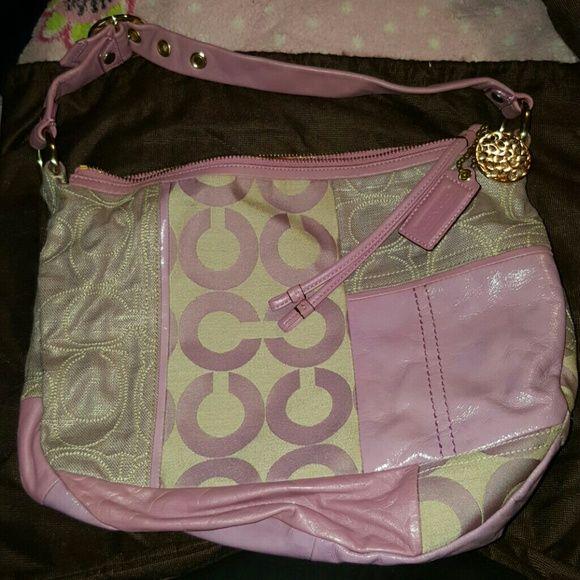adb0711a00 Lilac Purple Coach Patchwork Purse Lilac Purple Coach purse