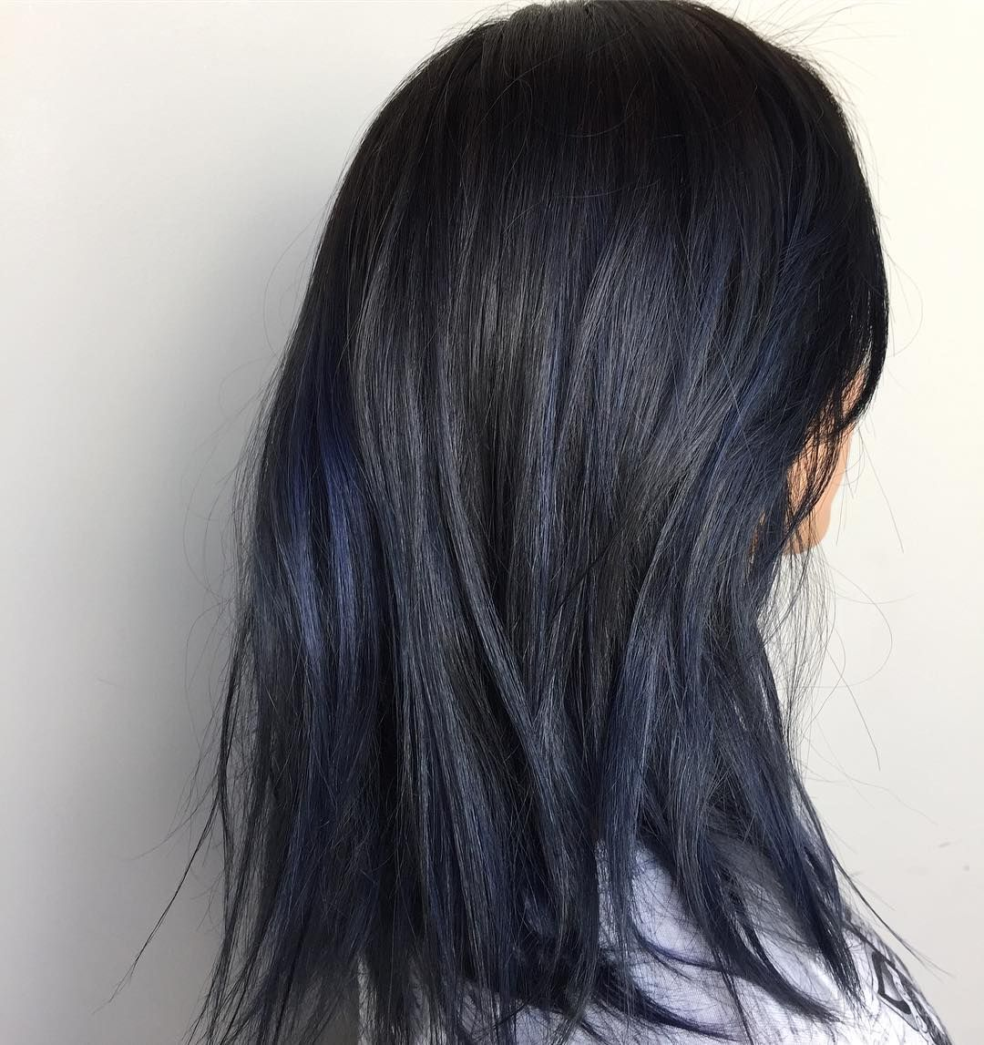 Schwarz Blaue Haare Awesome 65 Phenomenal Dark Hair With Highlights Flattering
