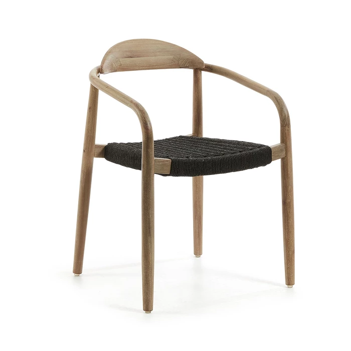 Glynis Eucalyptus Timber Dining Chair Black in 2020