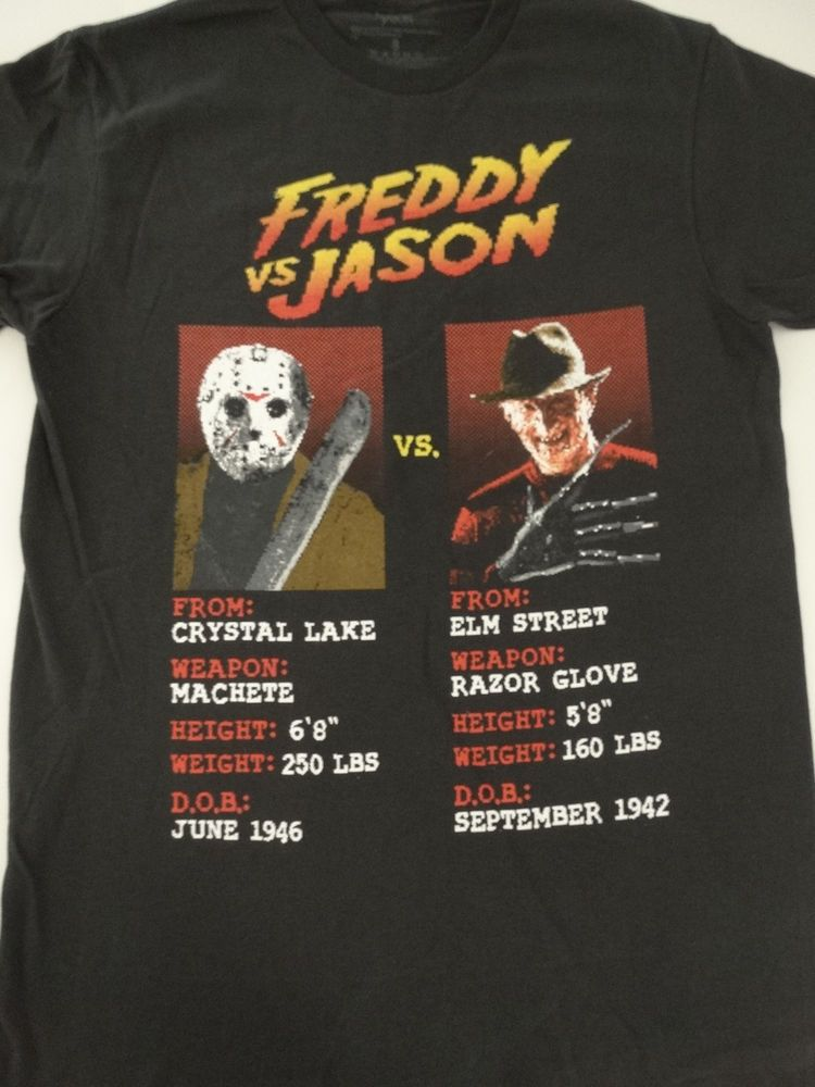 a1cdc460386 Freddy Krueger Vs Jason Voorhees Horror Movie Fight Stats T-Shirt  Changes   GraphicTee