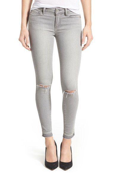 Paige Denim Verdugo Released Hem Ankle Skinny Jeans Grey Fog Destructed available at Finesse und Handwerk Welches ist Kunsthandwerk In dem Allgemeinen bezieht umherwander...