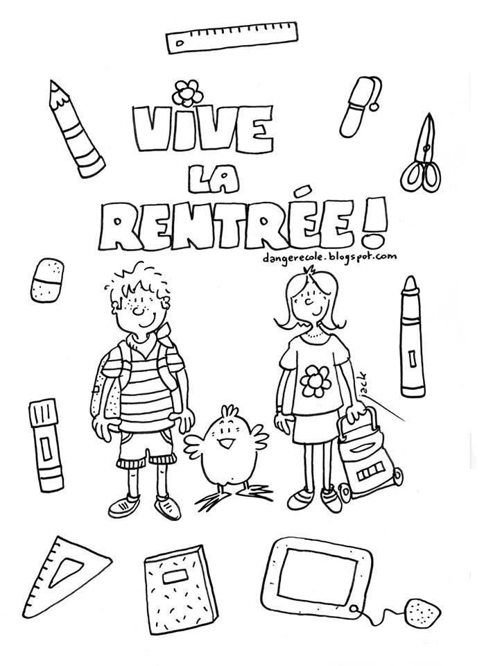 Epingle Par L G Sur French Learning Coloriage Rentree Coloriage Rentree Des Classes Danger Ecole