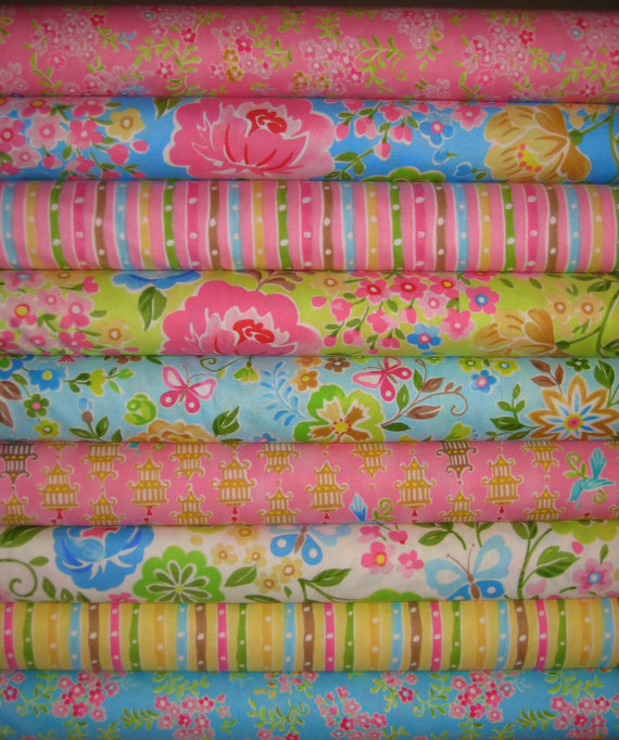 NEW Chinoise by Studio K 9 print combo 1/2 Yard by MyHeartandSew, $40.00