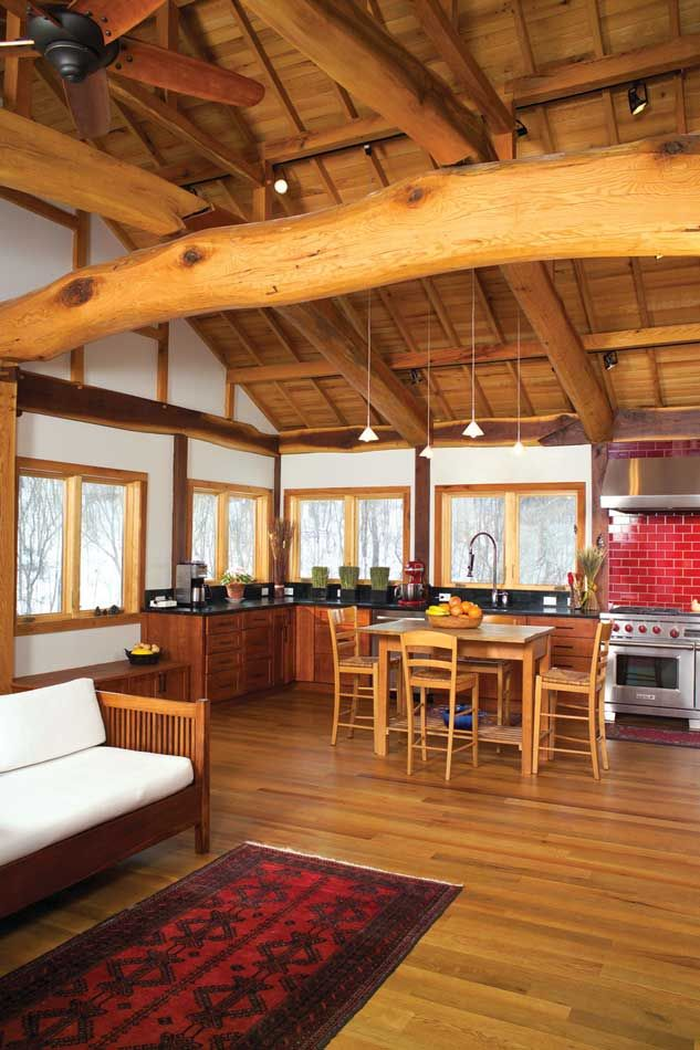 Up North, Looking East: A Reclaimed Timber Japanese Style House In Wisconsin