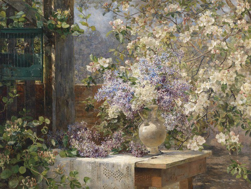 Painting by Marie Egner (1850-1940).