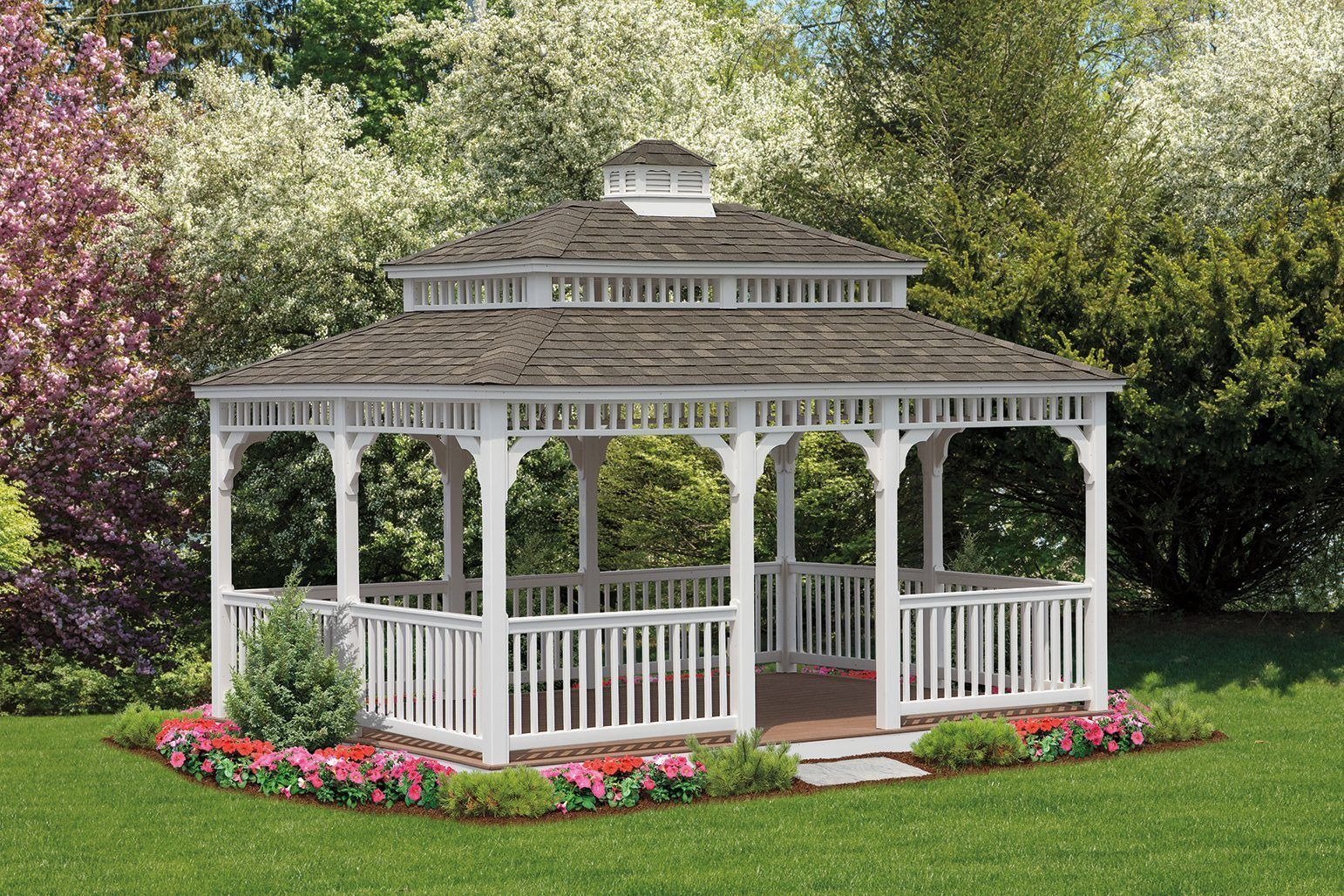 Best Size 121 X 16 With White Vinyl Rectangle Cupola And 400 x 300