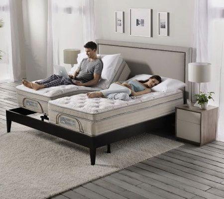 Sleep number split king size premium adjustable bed set - Bedroom sets for adjustable beds ...