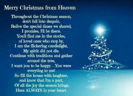 merry christmas from heaven - Merry Christmas From Heaven Poem