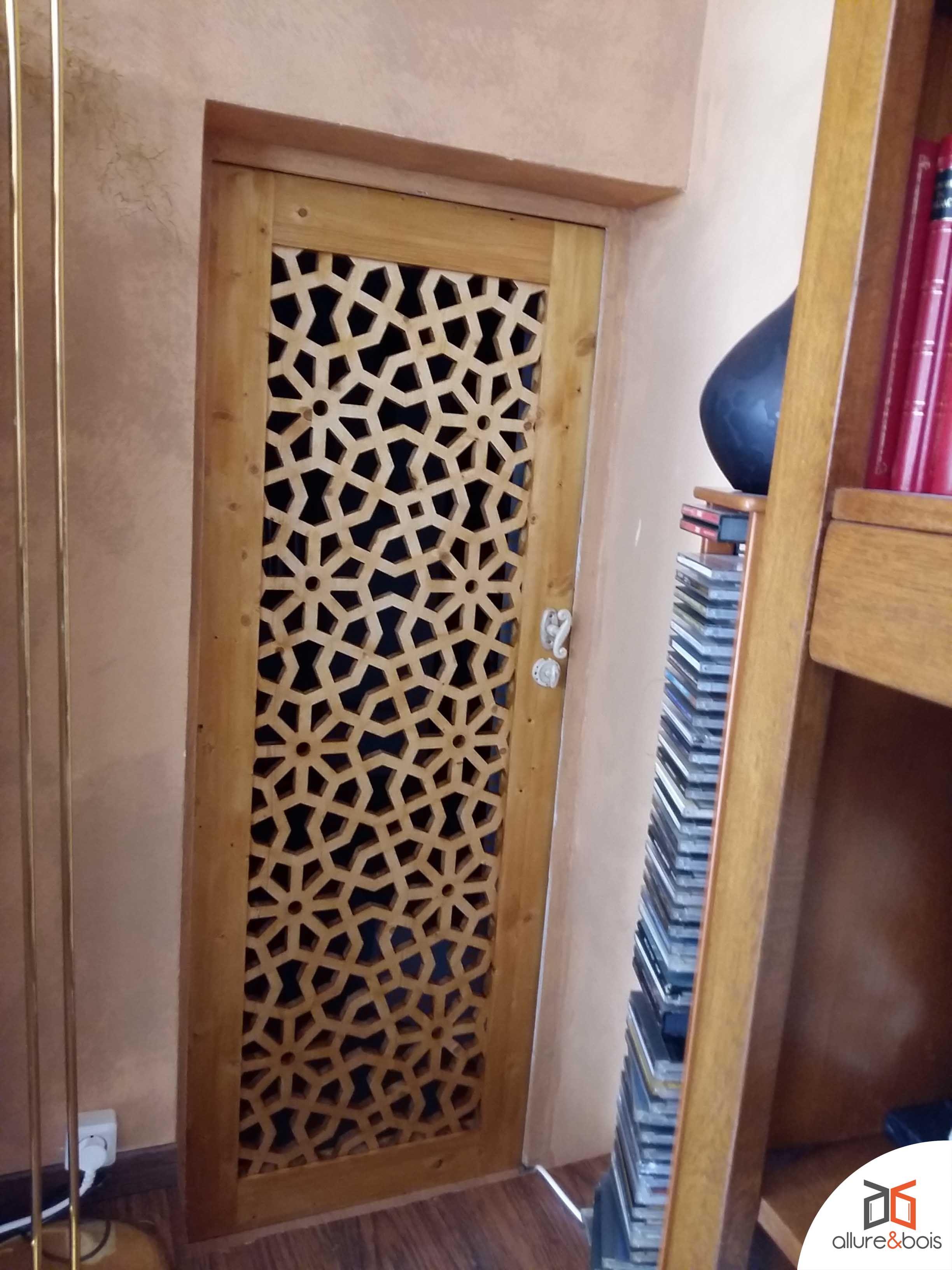 Porte Battante Moucharabieh Avec Paumelles Classique Tr S  # Petite Porte Placard En Tole