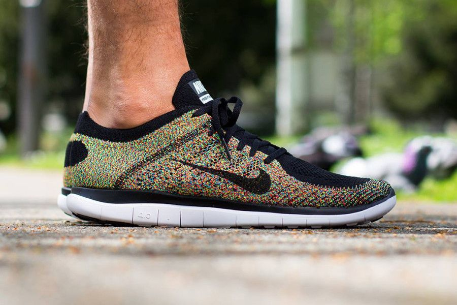 nike free run 4.0 flyknit multicolor lunar