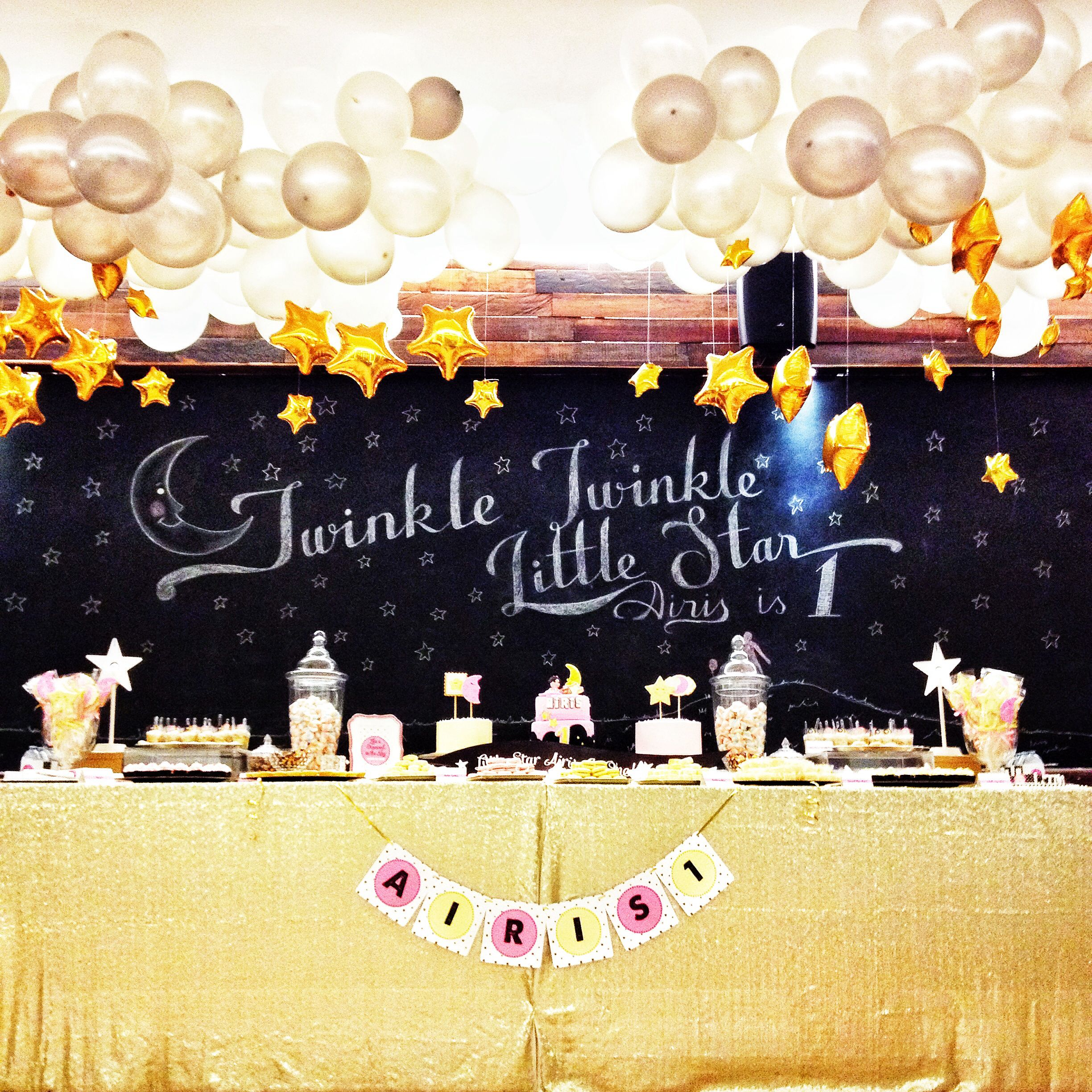 Set of 3 White Rabbits Design Nursery Rhyme Twinkle Twinkle 1st Birthday Party Decorations First Birthday Balloons Party Decorations Twinkle Twinkle Little Star White and Gold Balloons One Year Old is What You Are