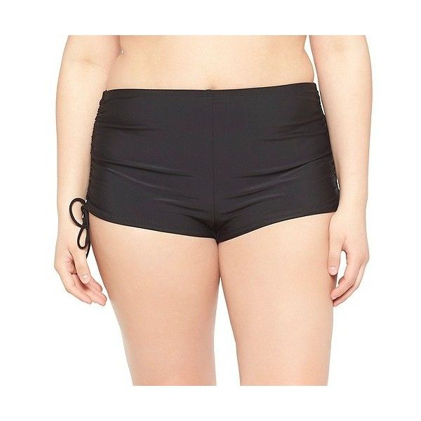 d8413e5a273 VM Plus Size Side Tie Boys'hort Swim Bottom Black - VM ($20 ...
