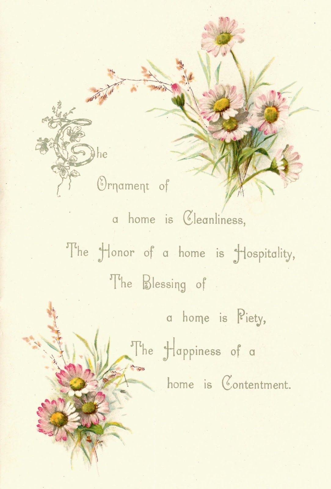 A free image blog offering royalty free printable clip art antique images free flower graphic vintage pink daisy clip art and poem from wedding book izmirmasajfo Gallery