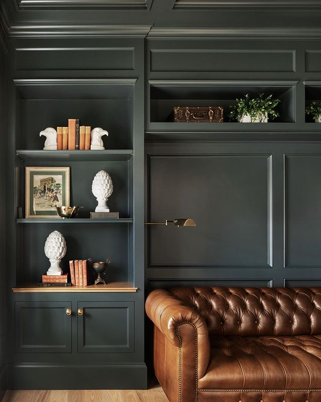 Open Study Room: DINING ROOM COLOR: Benjamin Moore Salamander With Exposed