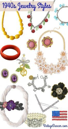 1940s Jewelry Styles Beads Bangels Pearls Rhinestone Brooches Button Earrings Bib Necklaces And Pa 1940s Jewelry Vintage Jewelry Crafts Walmart Jewelry