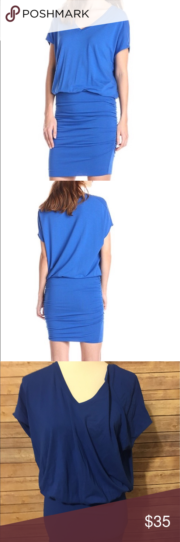 Lilla P blue fitted bottom dress new with tags Blue short sleeve dress with fitted bottom size small new with tags Lilla P. Dresses Mini