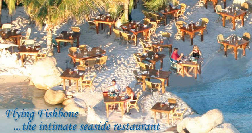 Flying Fishbone Restaurant Aruba Eat With Feet In Water Sunset Is At 7 05 Make Reservation For 6 30