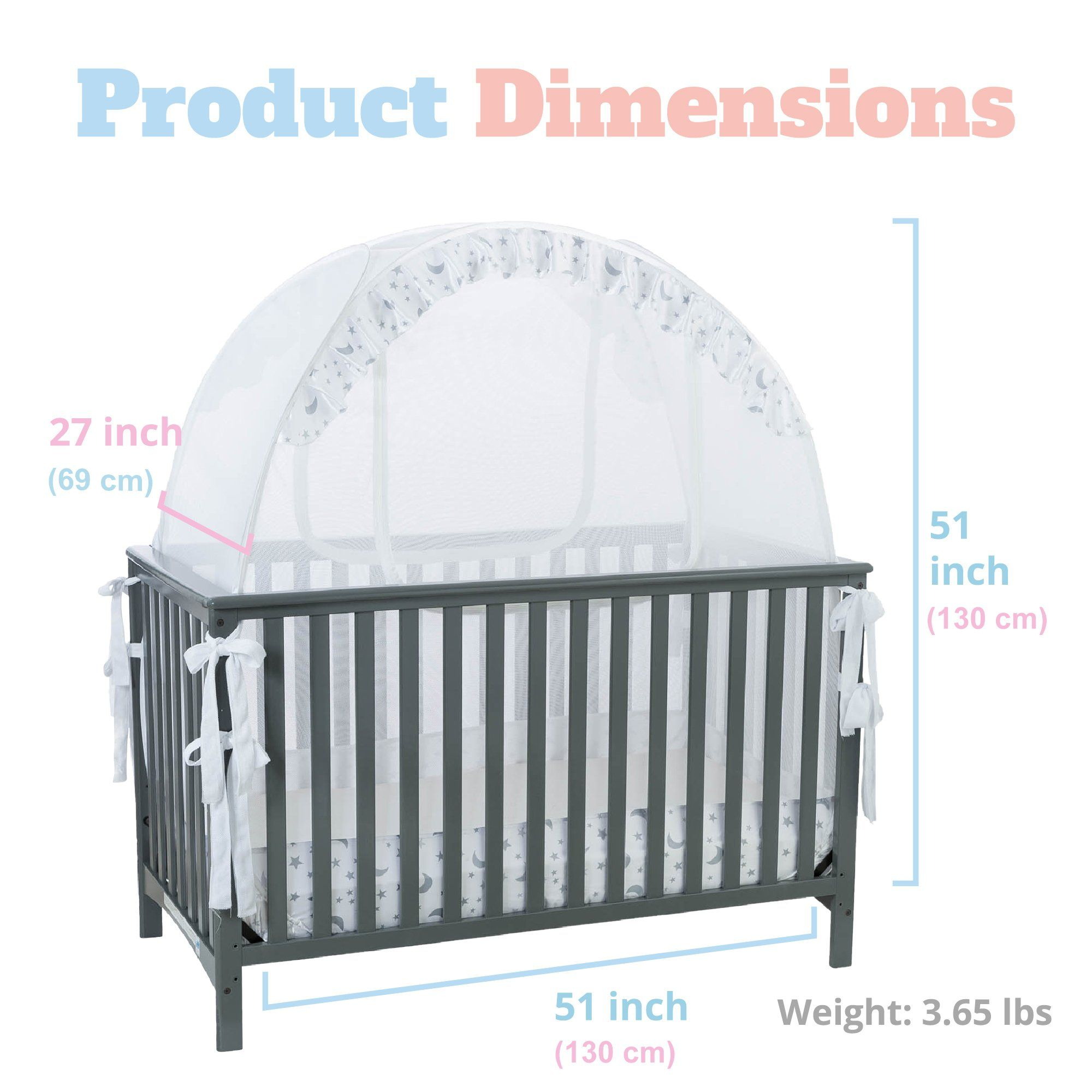 Baby Crib Safety Pop Up Tent Premium Baby Bed Canopy Netting Cover See Through Mesh Top Nursery Mosquito Net Stylish And Baby Bed Canopy Crib Tent Baby Cribs