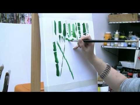 Acrylmalen Malen Lernen Ubungen Zum Bambus Acrylic Painting