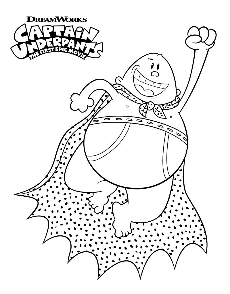 Captain Underpants Coloring Pages Printable