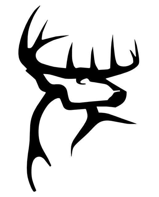 Elk hunting buck Sticker Car Laptop Window hunt Deer Antler V2 Vinyl Decal