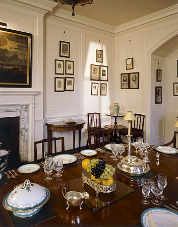 Dining Room Table Set For Dinner walmer castle, kent. interior view.the dining room table set for
