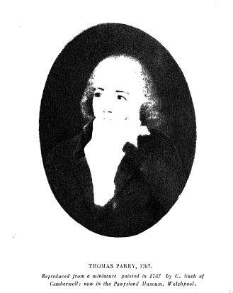 Thomas Parry, Free Merchant, Madras 1768-1824