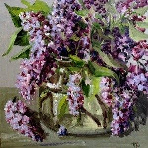 A Jar Of Lilac Original Fine Art For Sale C Penny German French Country Decorating Still Life Painting Original Fine Art