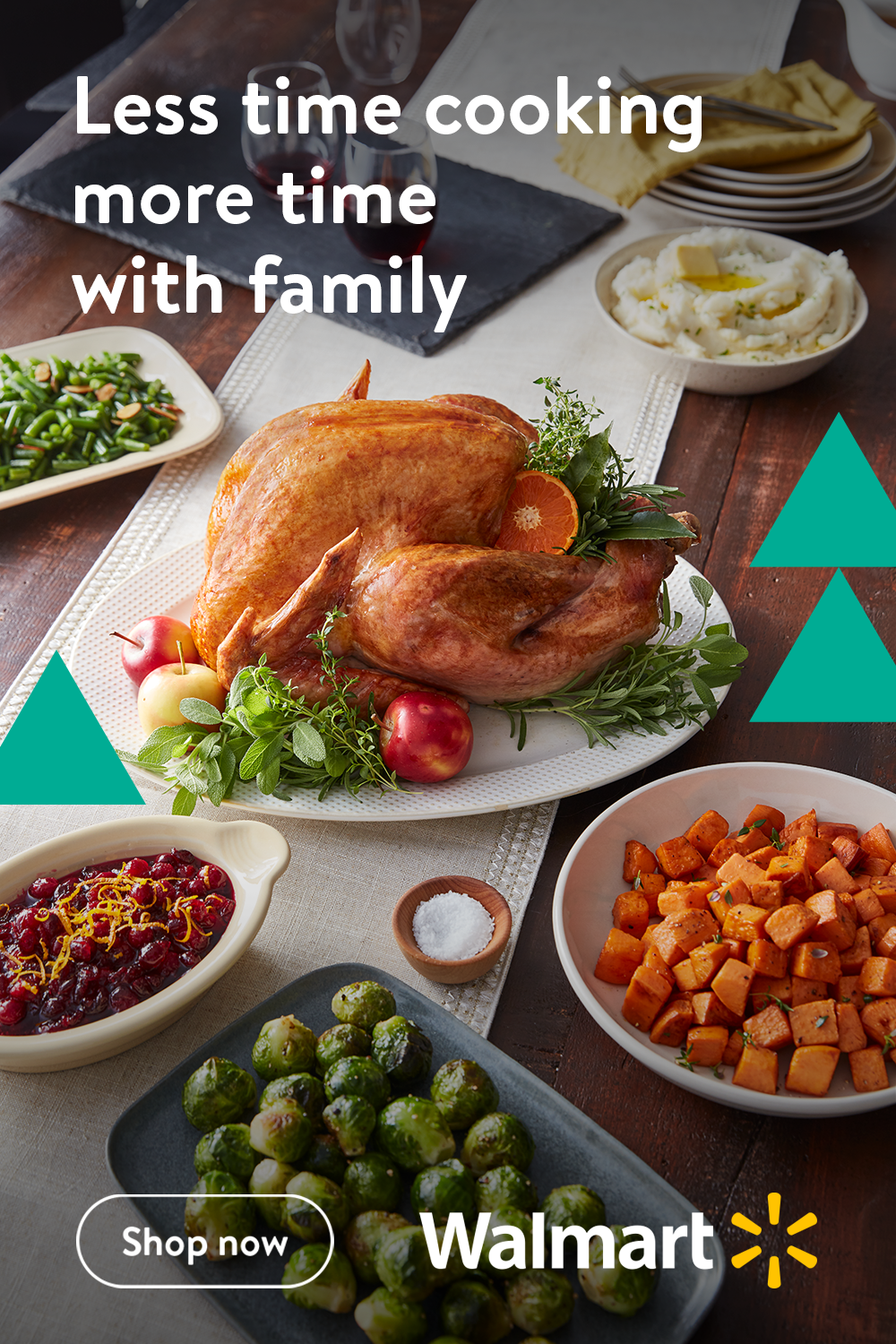 This holiday, spend less time cooking and more time with family with these delicious, easy-to-make meals from Walmart. They'll have the whole family excited for dinner all season long.