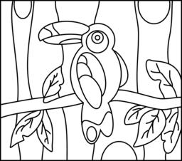 Toucan - Online Coloring Page | tư liệu mầm non | Pinterest