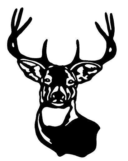 Deer Buck head lrg vinyl decal sticker car truck window