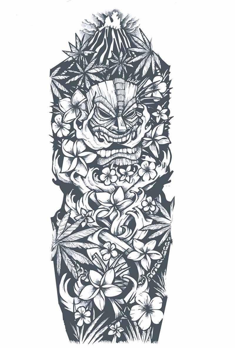 Dessin Tatouage Polynesien Bras Entier Maori Tattoos Tattoos