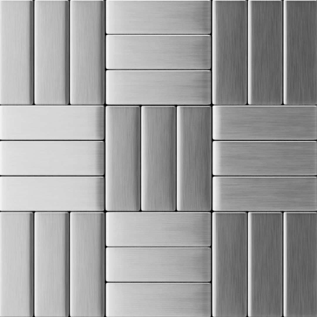 Inoxia Sdtiles Metal L Stick Tile In Stainless Steel