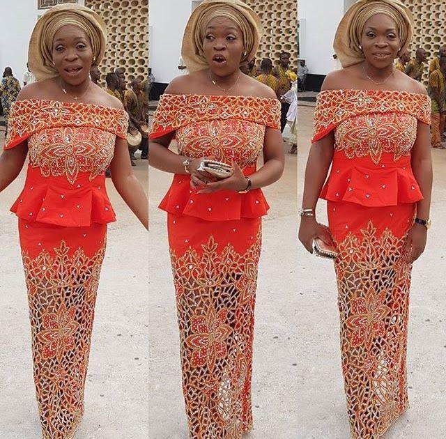 df476252cf423c Embellishing Aso Ebi Skirt and Blouse Styles 2018 for Wedding Guests  #aso_ebi_skirt_and_blouse_styles #aso_ebi_styles