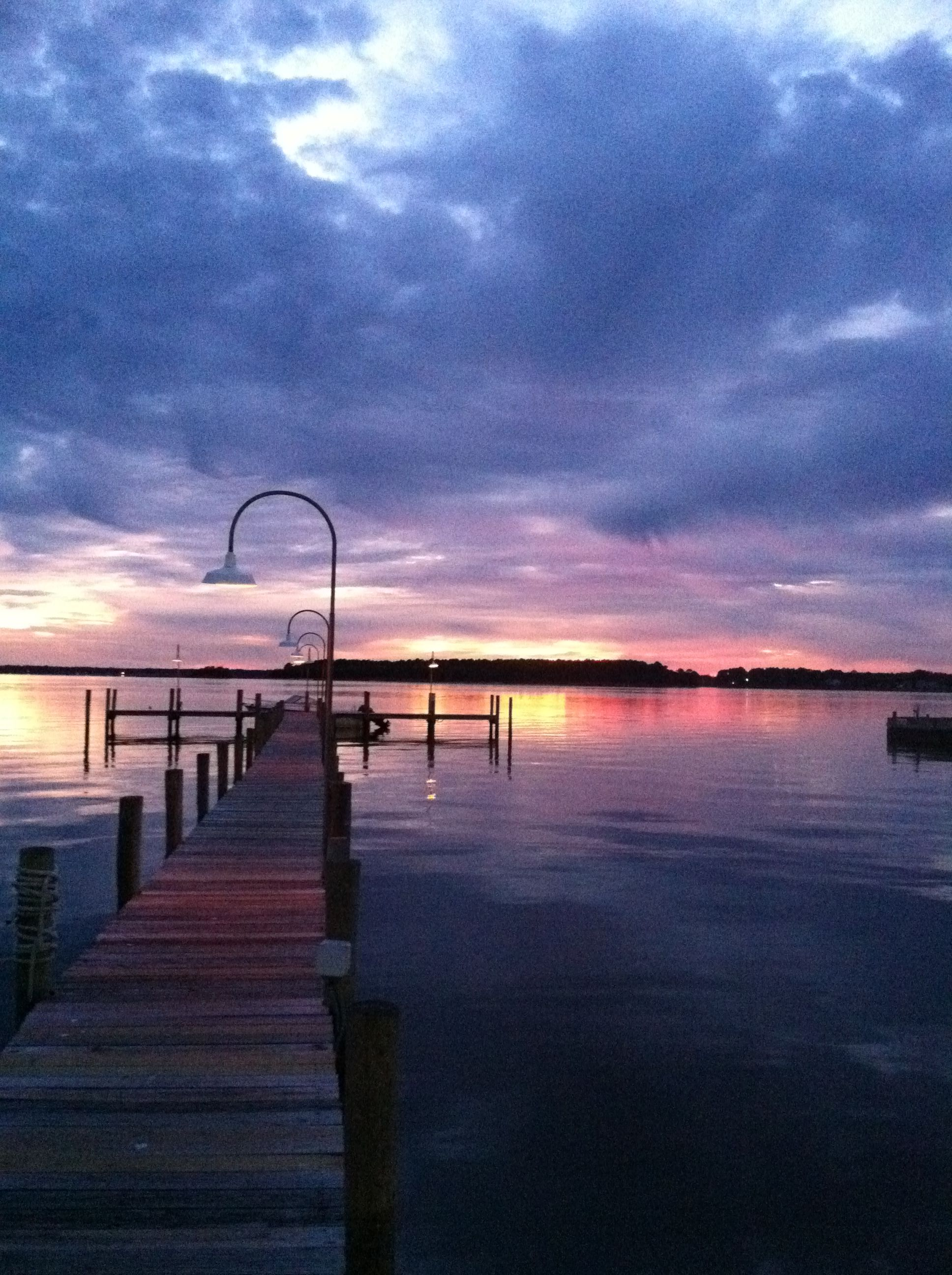 Dewey Beach Sunset On The Rehoboth Bay In Delaware This Looks Like Pier From Rusty Rudder