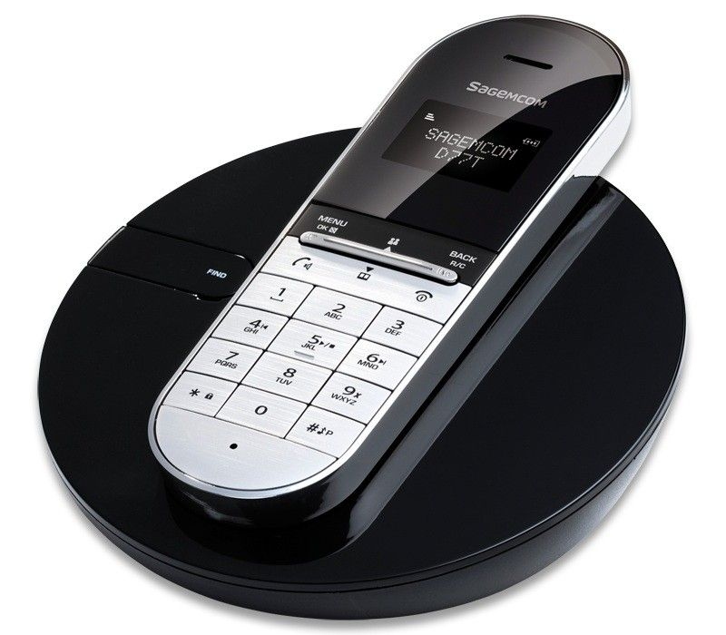 Designer Cordless Phones | SAGEMCOM D77T CONTEMPORARY DESIGNER STYLED  DIGITAL CORDLESS PHONE