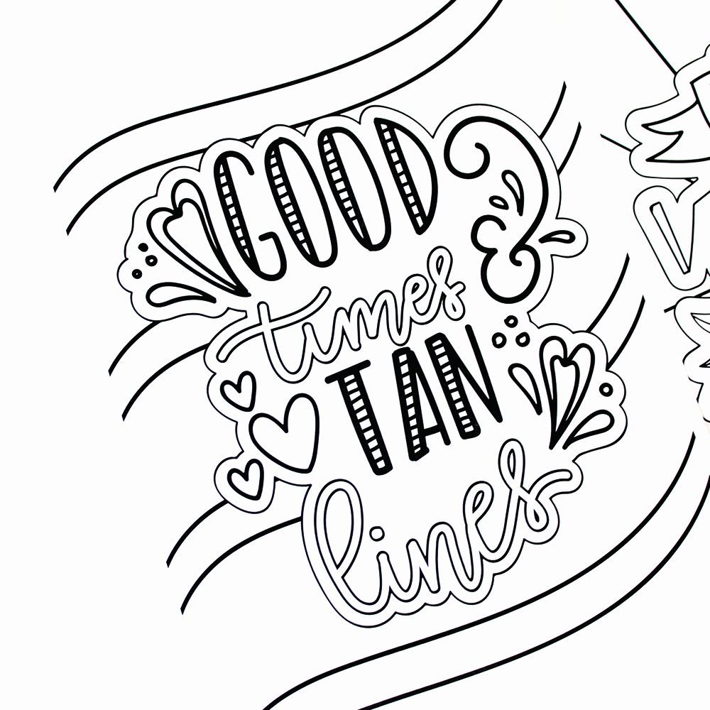 Summer Fun Coloring Sheets New Hand Lettered Summer ...