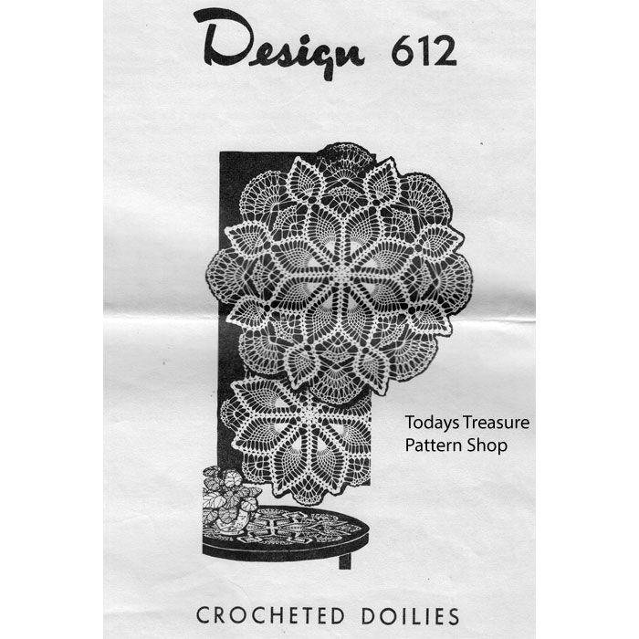 Centerpiece Pineapple Doily Crochet Pattern Design 612 | Todays ...