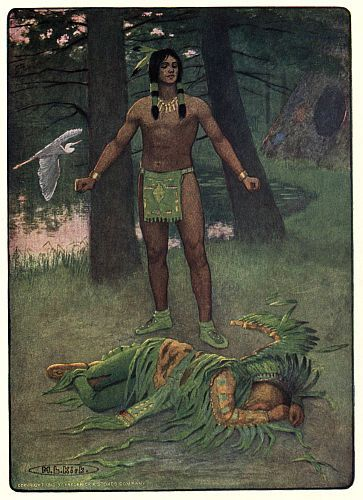 DEAD HE LAY THERE IN THE SUNSET The Story of Hiawatha Henry Wadsworth Longfello Illustrator: M. L. Kirk