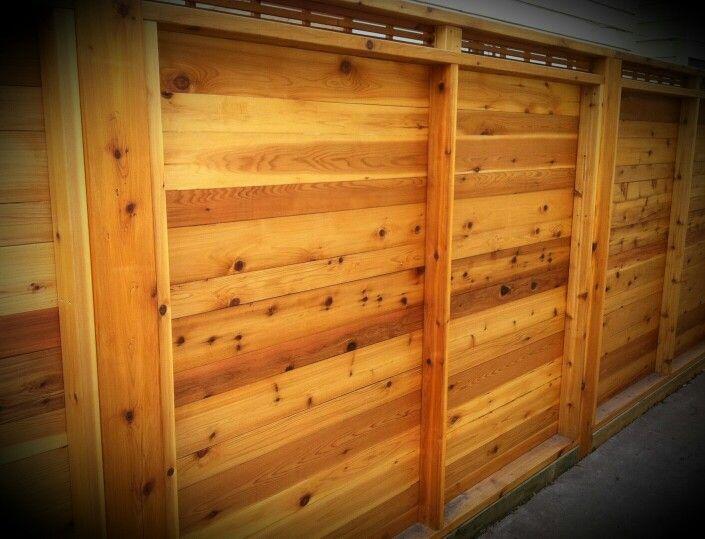 Custom Cedar Fence With Clear Coat Www