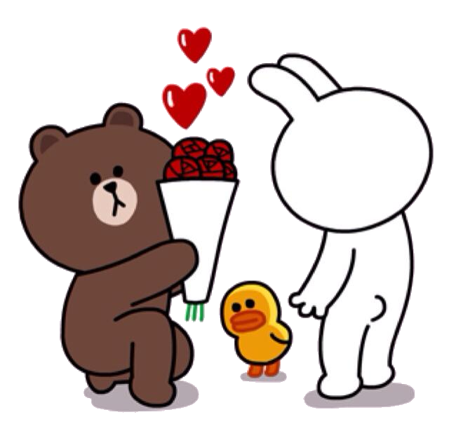 Brown Proposing to Cony | Cony and Brown ♥(ˆ⌣ˆԅ ...
