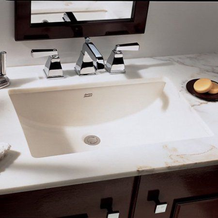 American Standard 0614.000.020 Studio Rectangular Undermount Sink,  Available In Various Colors, White